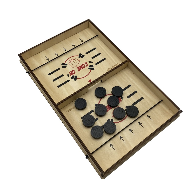FAST SLING PUCK GAME PACED TABLE DESKTOP BATTLE WINNER BOARD GAME SMALL