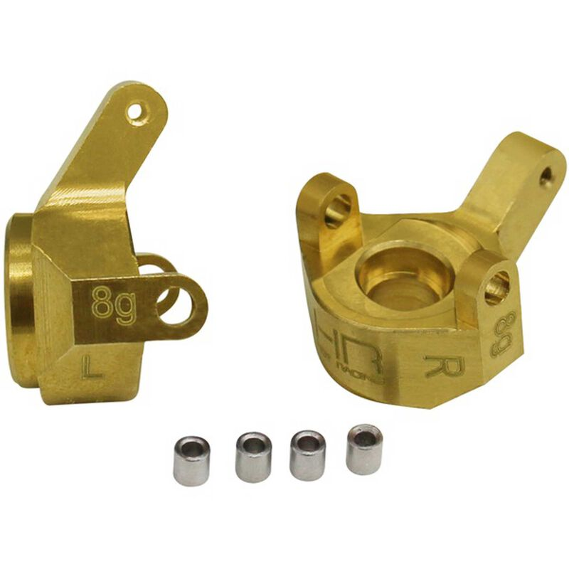 Hot Racing Brass Front Steering Knuckle: SCX24