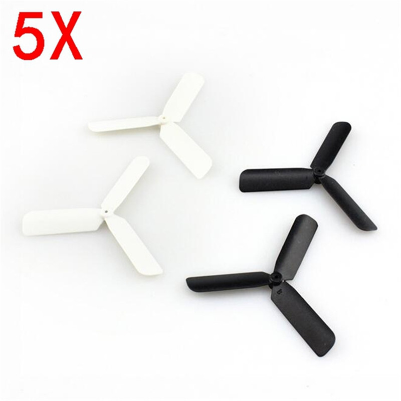 Eachine 3-Blade Propeller Prop 5 sets for 7mm 8.5x20mm Coreless Motor - <b>Black/White</b>