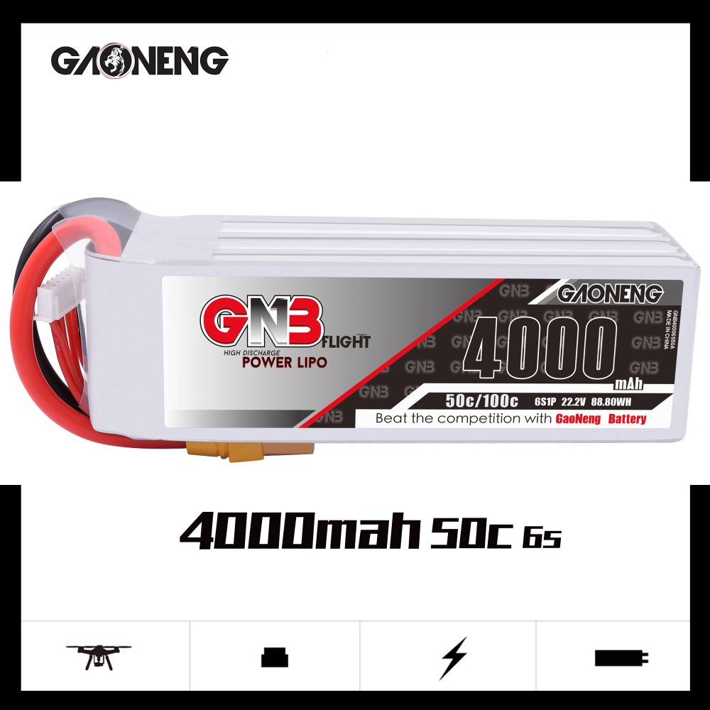 GNB 6S 4000MAH 50C LIPO BATTERY