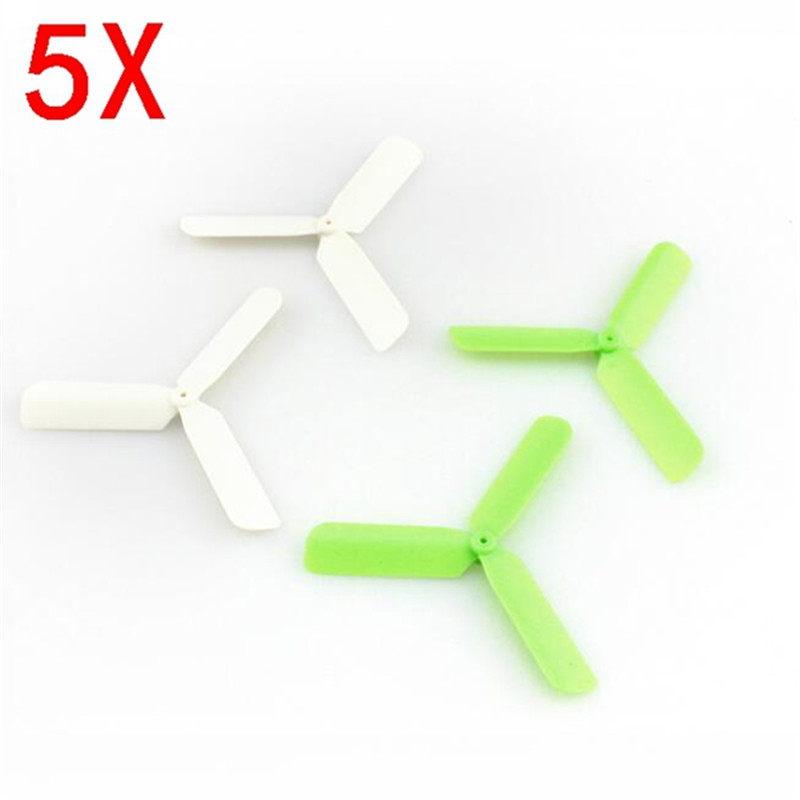 "Eachine 3-Blade Propeller Prop 5 sets for 7mm 8.5x20mm Coreless Motor - <font color=""green""><b>Green</b></font><b>/White</b>"