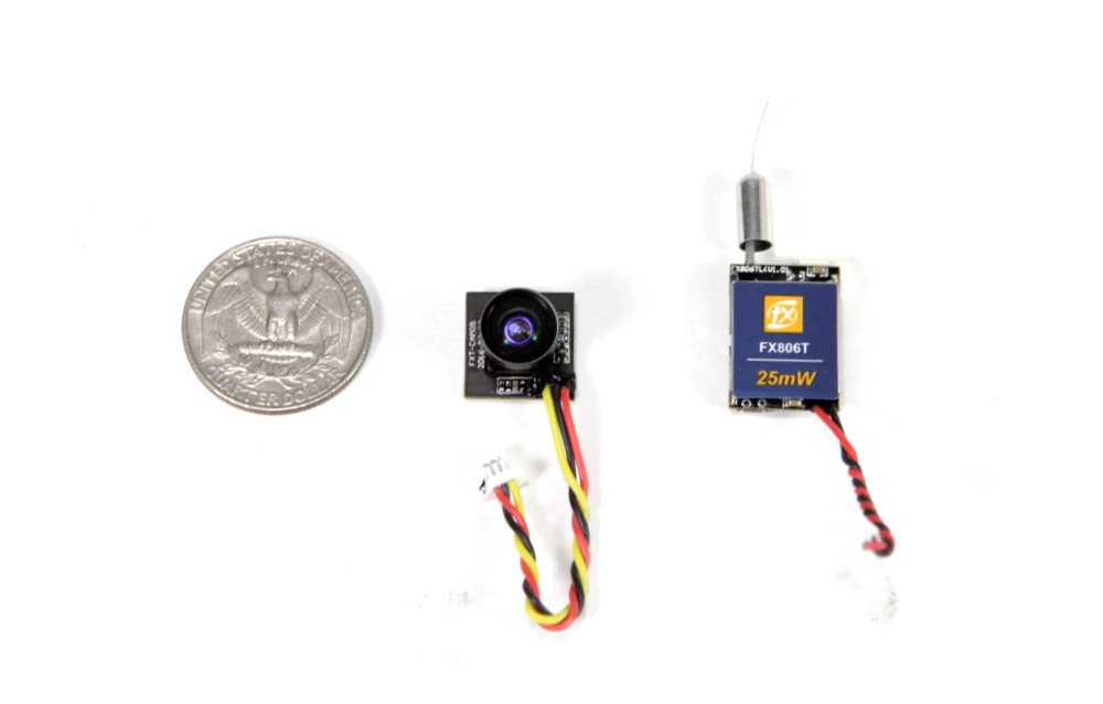 FX806T NanoCam - Micro FPV Camera with Detached 5.8G 25mW 40CH Video Transmitter