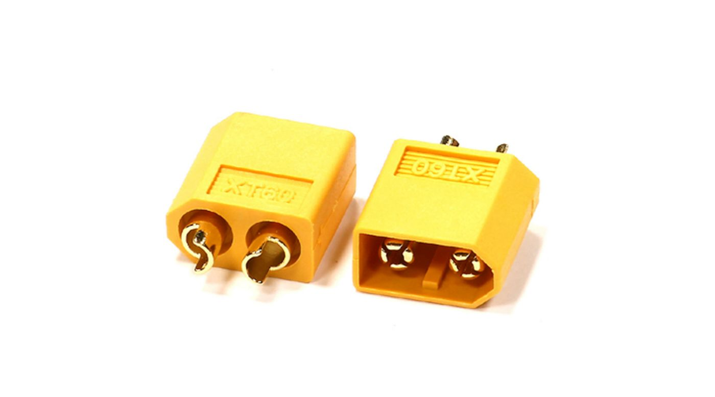 Integy XT60 Connector (2) Male 3.5mm
