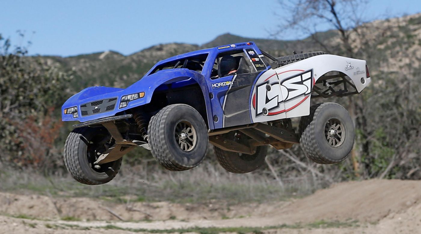 Losi 1/10 Baja Rey 4WD Desert Truck Brushless RTR with AVC, Blue - SNHE