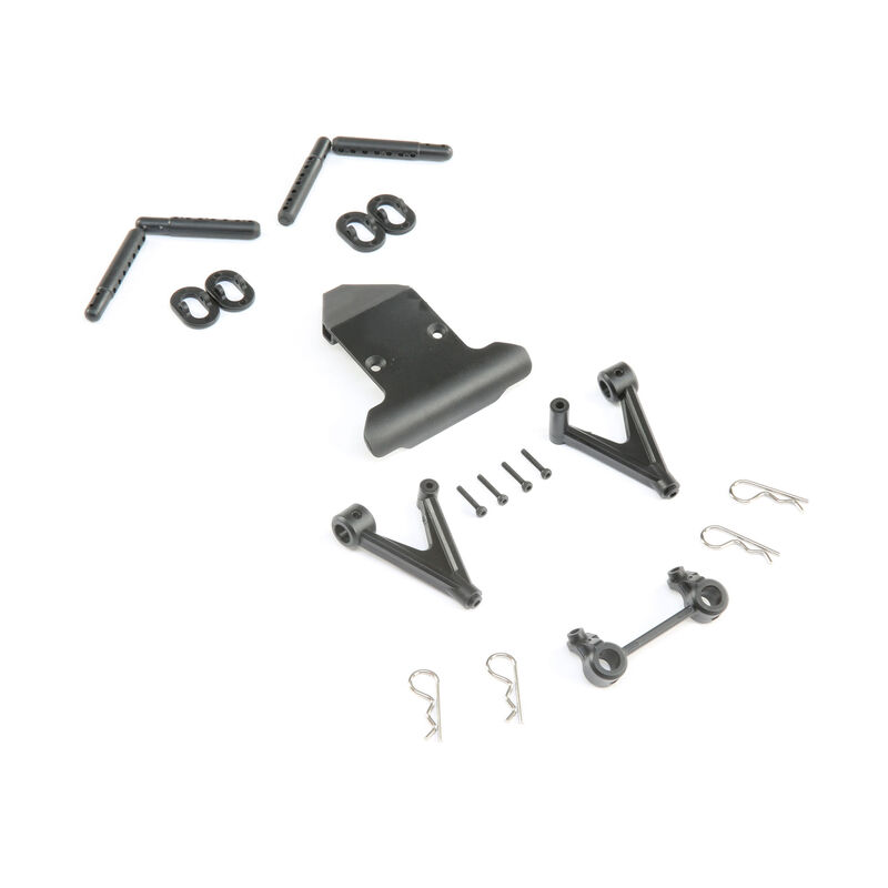 Losi Front Bumper & Body Mount Set: 22S ST