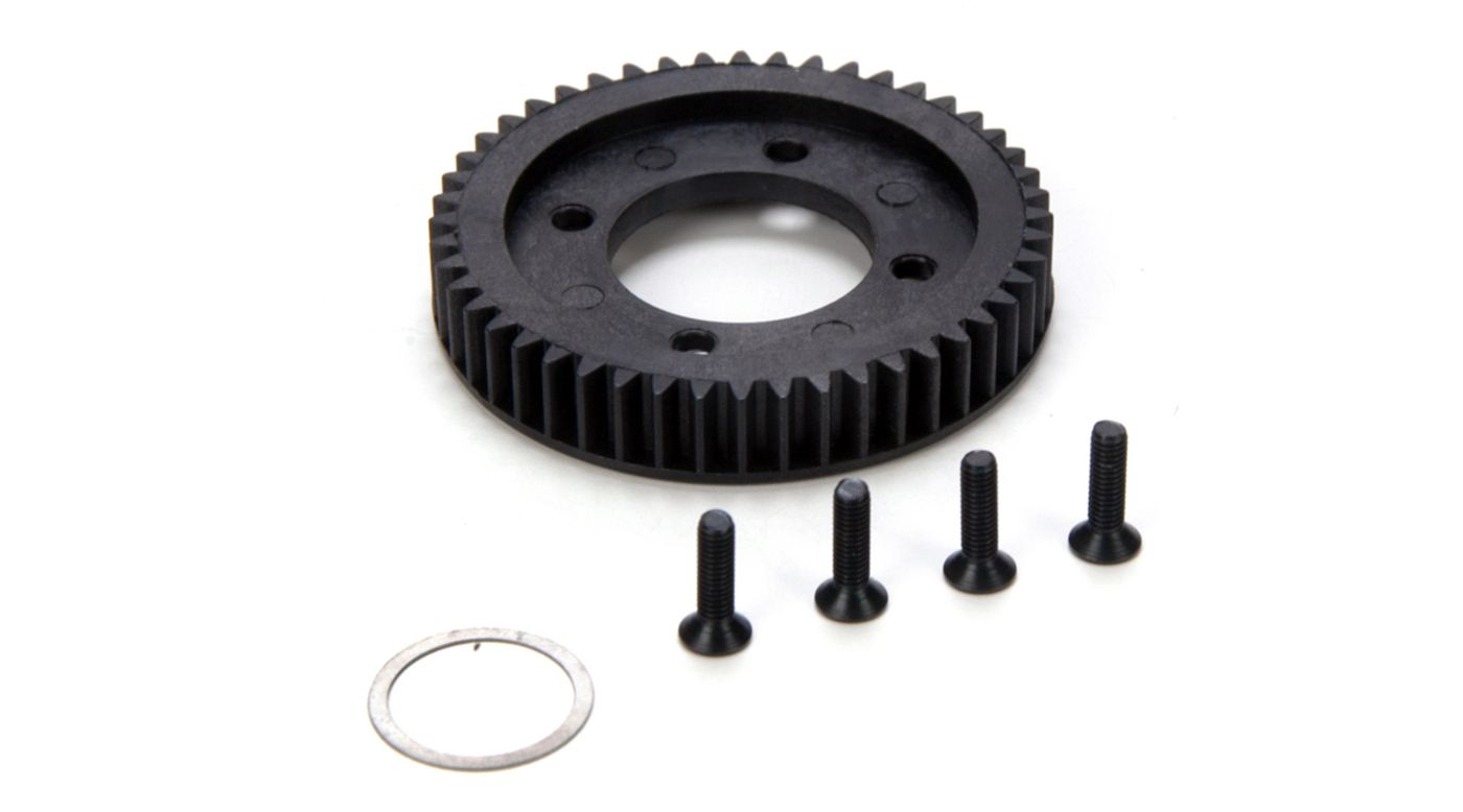 48T Center Diff Spur Gear & Hardware: 10-T