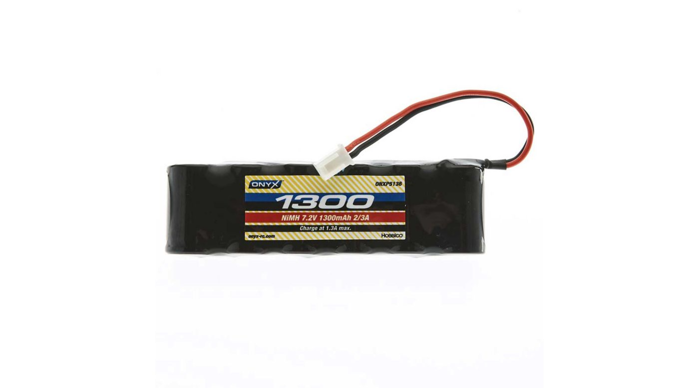 Onyx 7.2V 1300mAh 6-Cell 2/3A Flat NiMH Battery: XH-1S (Losi Mini Plug)