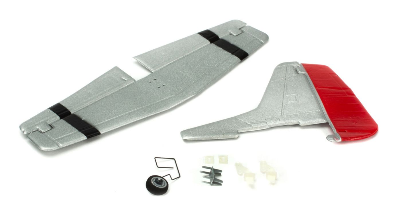 ParkZone Complete Tail w/Accessories: UM P-51D Mustang w/AS3X