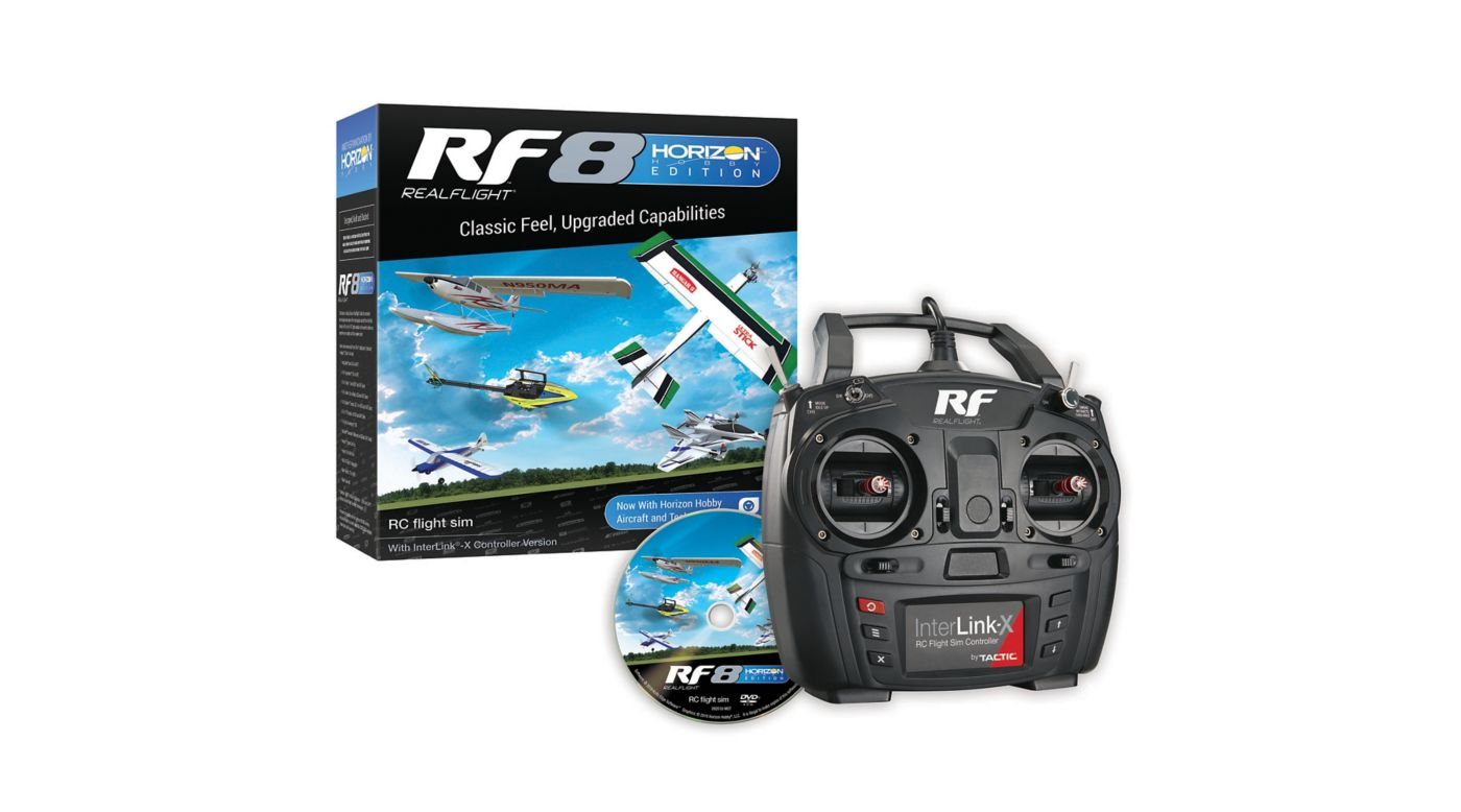 RealFlight RF8 Horizon Hobby Edition with InterLink-X Controller - SNHE