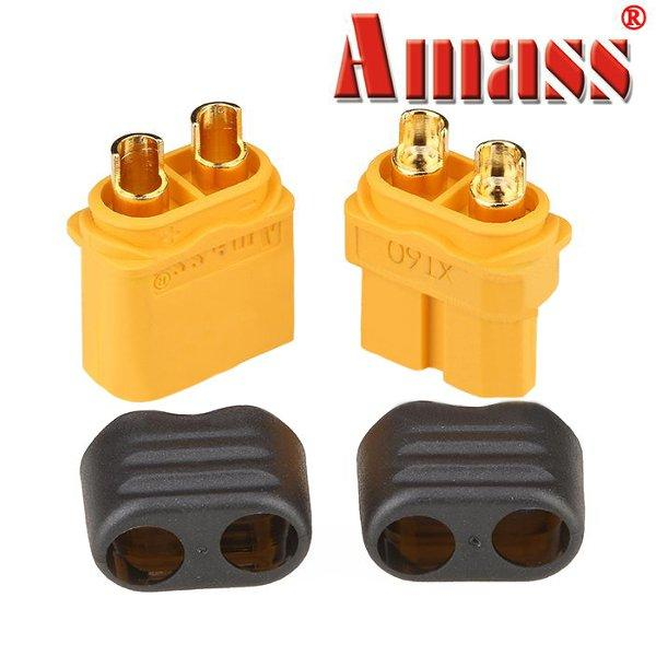 Amass XT60+ Plug Connector With Sheath Housing Male & Female 1 Pair - SNHE