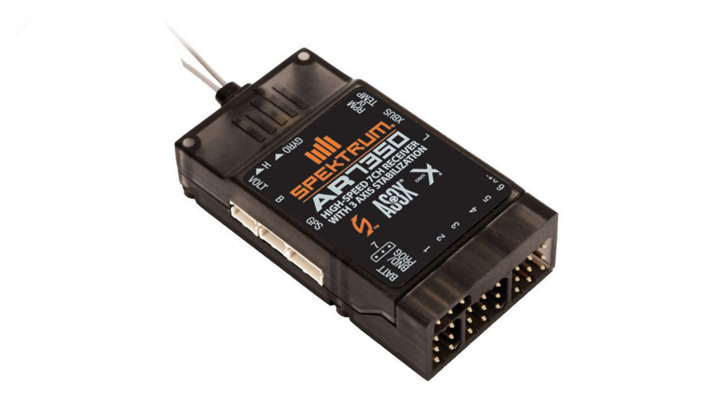 Spektrum AR7350 7-Channel AS3X Receiver with Integrated Telemetry