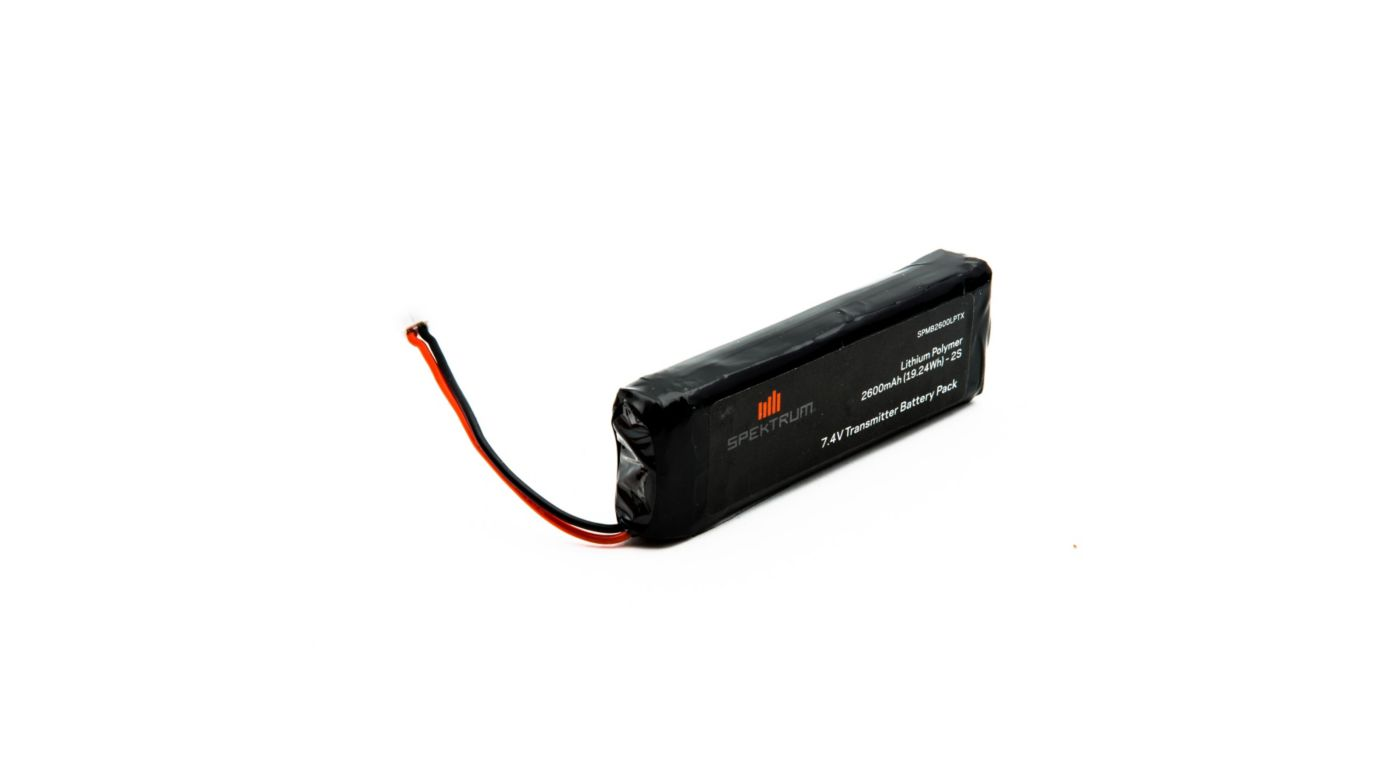 2600mAh LiPo Transmitter Battery: DX18