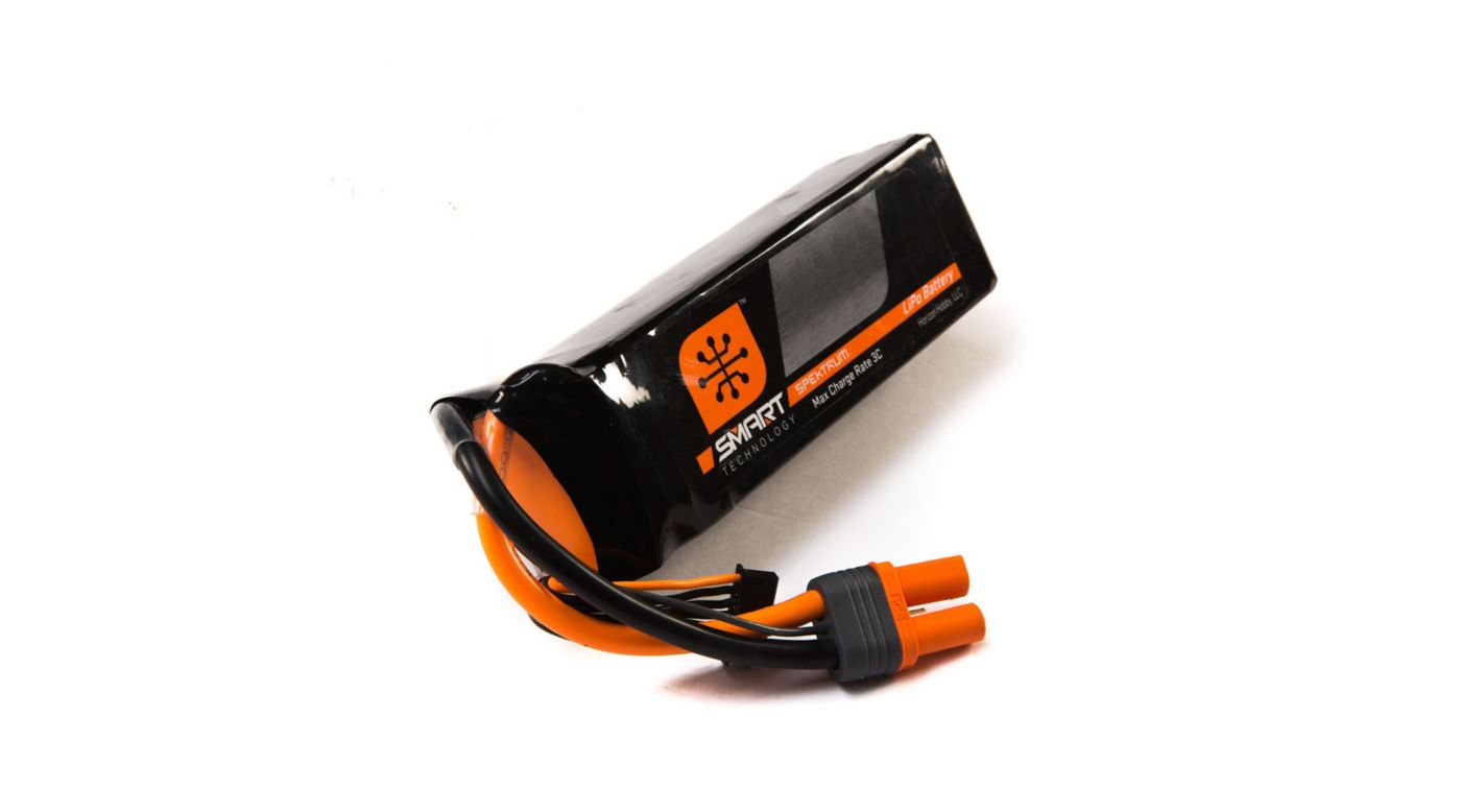 Spektrum 11.1V 2200mAh 3S 30C Smart LiPo Battery, IC3