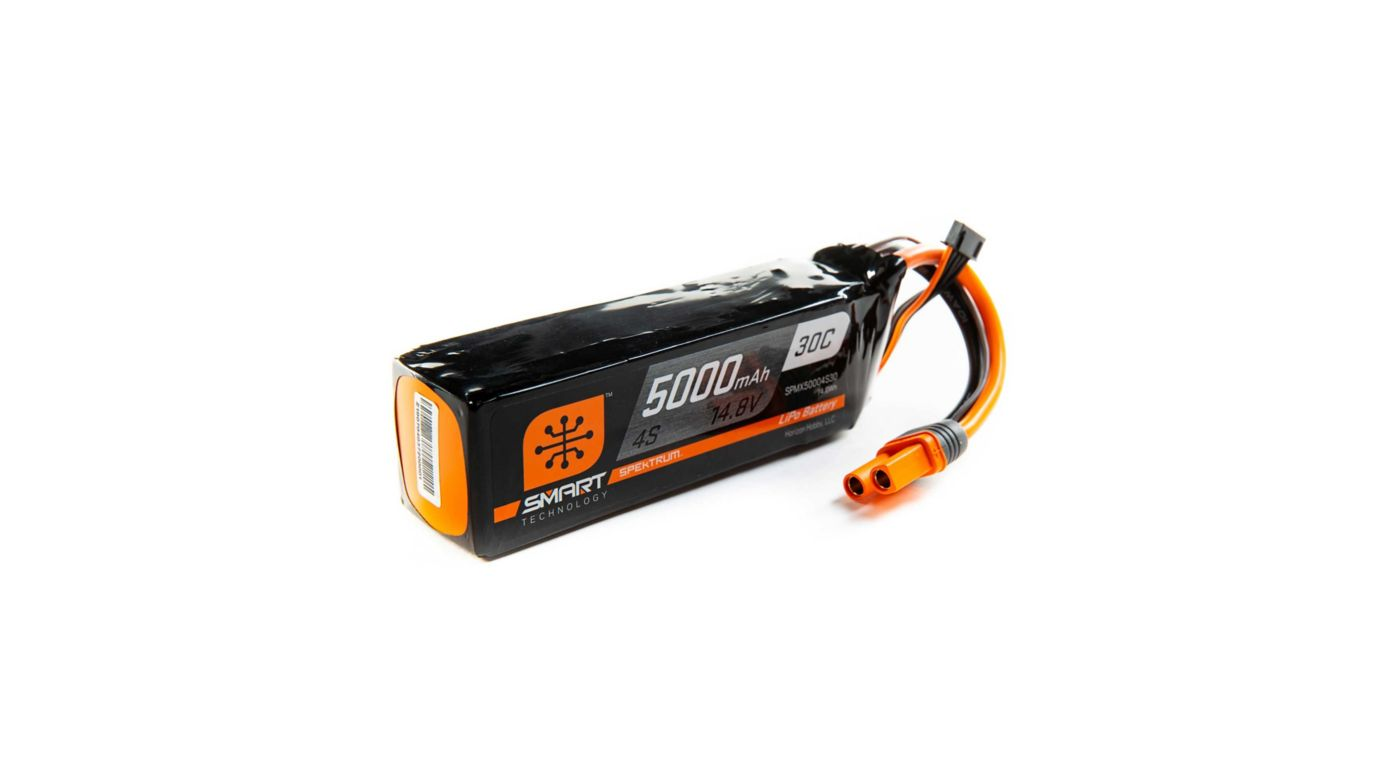 Spektrum 14.8V 5000mAh 4S 30C Smart LiPo, IC5