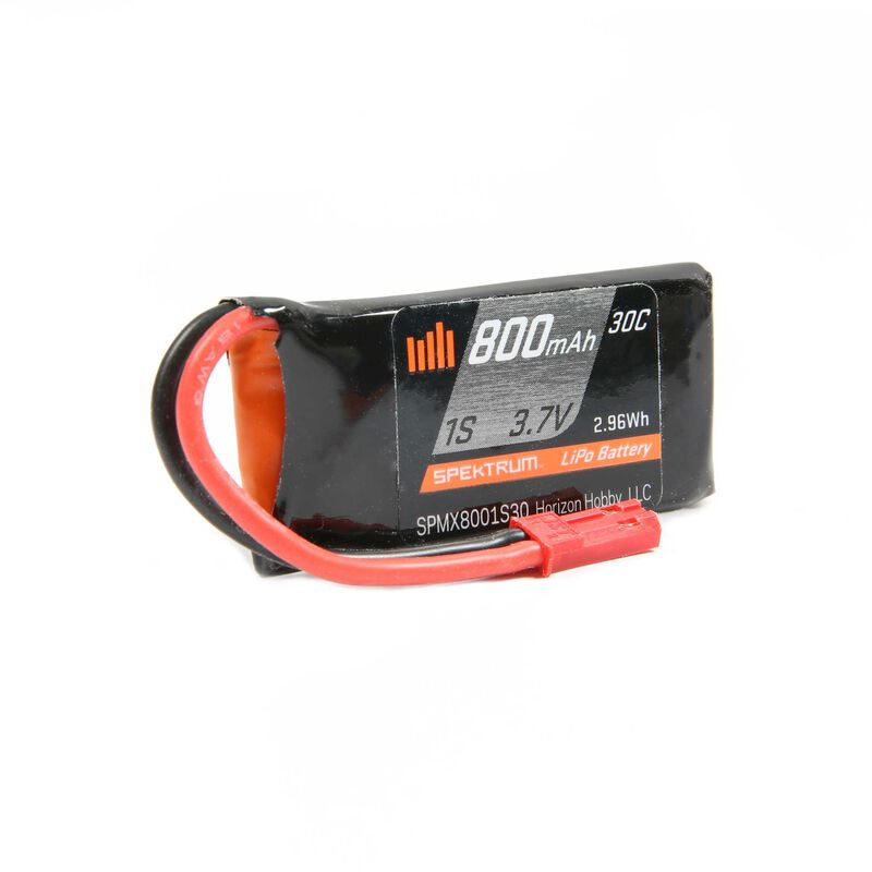 Spektrum 800mAh 1S 3.7V 30C LiPo Battery, JST