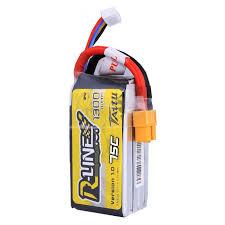 Tattu <b>R-Line 1300mAh</b> 11.1v 75C 3S1P lipo battery pack with XT60 Plug - SNHE
