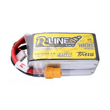 Tattu <b>R-Line 1800mah</b> 4S 95C FPV Lipo Battery with XT60 Plug