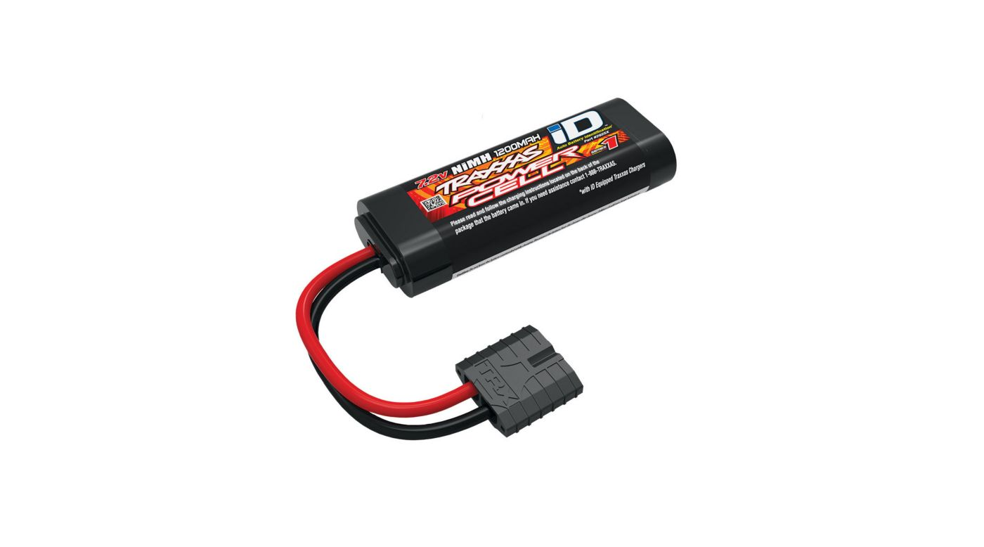 Traxxas 7.2V 1200mAh 6-Cell Flat 2/3A NiMH Battery, with TRA ID - SNHE
