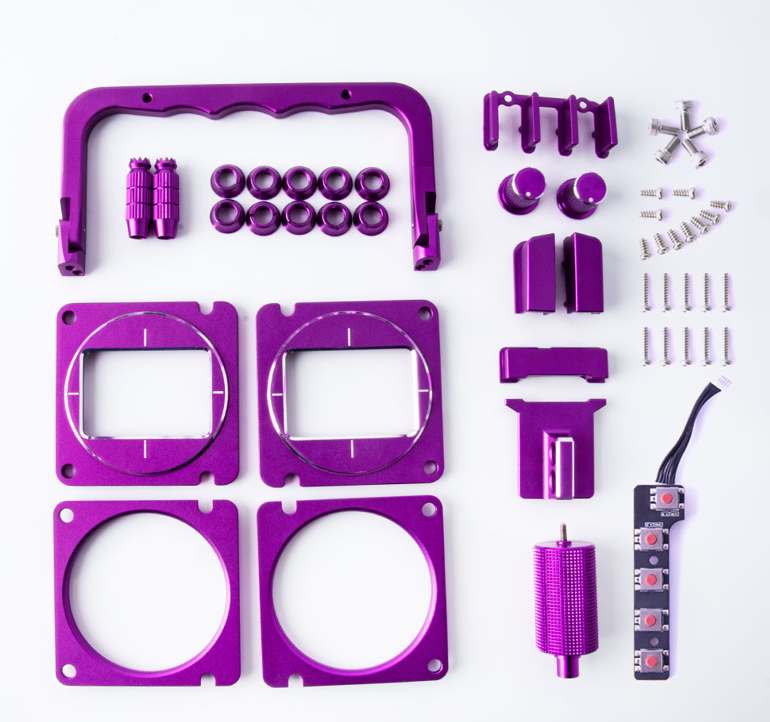 RADIOMASTER TX16S CNC ANODIZED UPGRADE SET (PURPLE)