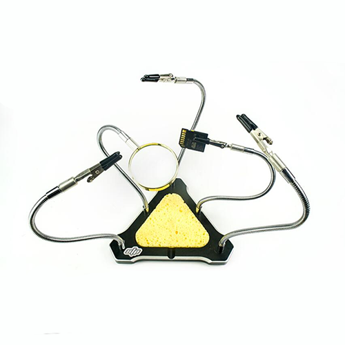 STP Soldering Station helping hands tool With Magnifying Glass