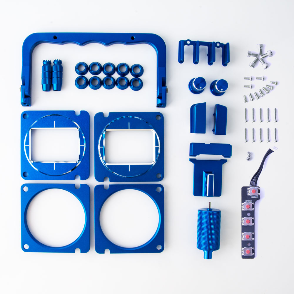 RADIOMASTER TX16S CNC ANODIZED UPGRADE SET (BLUE)
