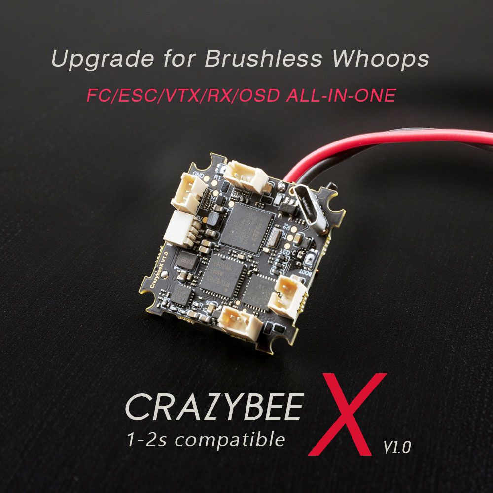 Happymodel CrazybeeX <b>FRSKY v1.0</b> All-IN-ONE flight controller 1-2s compatible for brushless whoops