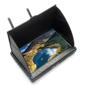 Eachine LCD5802S 5802 40CH Raceband 5.8G 7 Inch Diversity Receiver Monitor with Build-in Battery - SNHE
