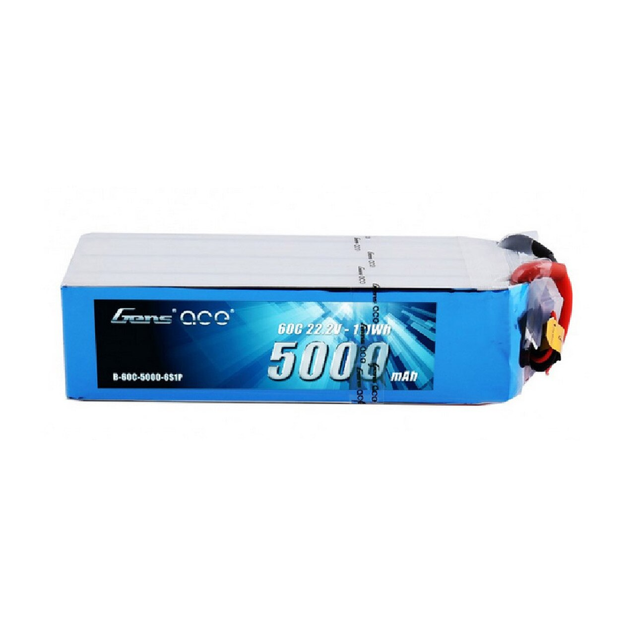 Gens Ace 22.2V 60C 6S 5000mah Lipo Battery Pack With EC5 Plug
