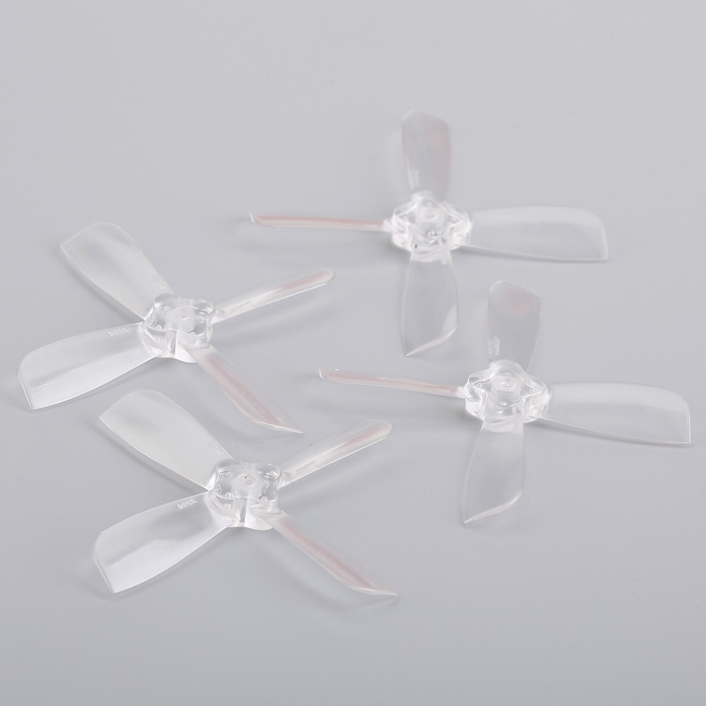 Gemfan <b>2035</b> 2X3.5X4 4 Blade 1.5mm Mounting Hole 2CW+2CCW FPV Racing Propeller - <b>Clear</b> - SNHE
