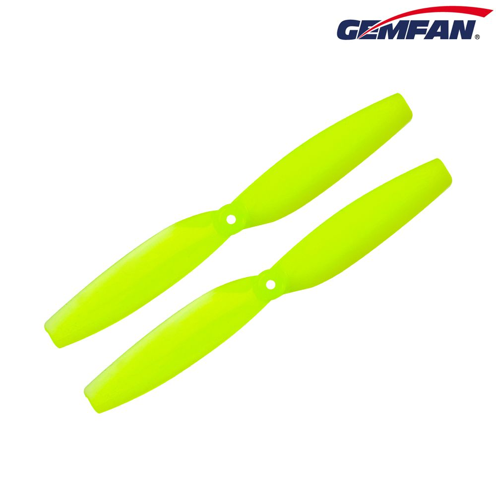 "Gemfan 65mm 2-Blade (1.5mm shaft / Set of 8) for Toothpick - <font color=""yellow""><b>Lemon Yellow</b></font> - SNHE"