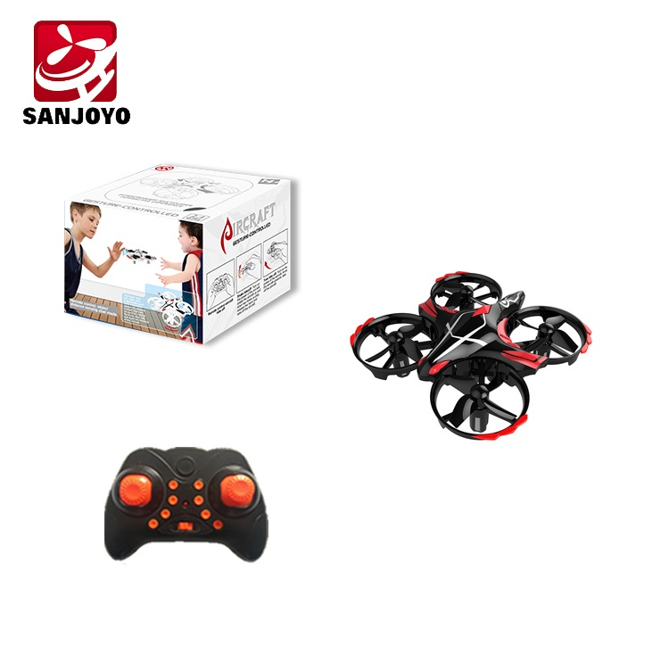 Mini 2.4G Drone with interactive Hand Sensing Gesture Control - <b>BLACK</b>