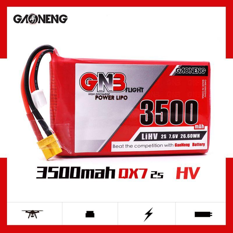 GNB 2S HV 3500MAH 7.6V LIPO BATTERY for QX7 / RADIOMASTER TX16S