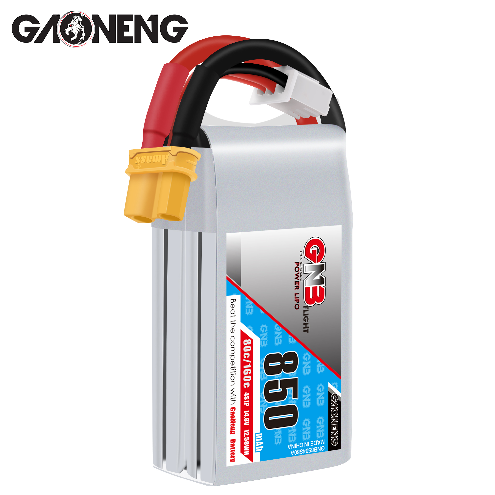 GNB 3S 850MAH 80C/160C LIPO BATTERY