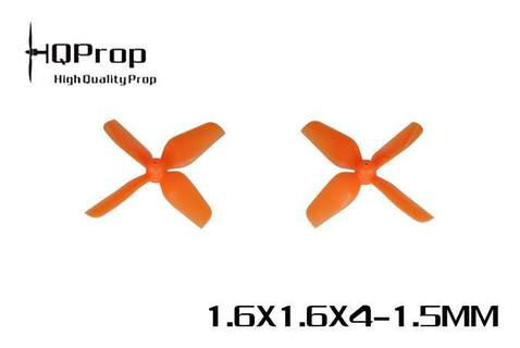 "HQ Micro Whoop <b>1.6x1.6x4 1.5mm Shaft</b> (40mm) - <font color=""orange""><b>Orange</b></font>"