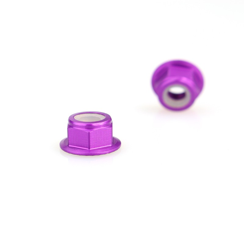 Emax Brushless Motor Aluminum Screws Nut For RS2205 RS2205S RS2306 - <b>(2 Pcs)</b> <font color=&quot;purple&quot;><b>Purple</b></font> - SNHE