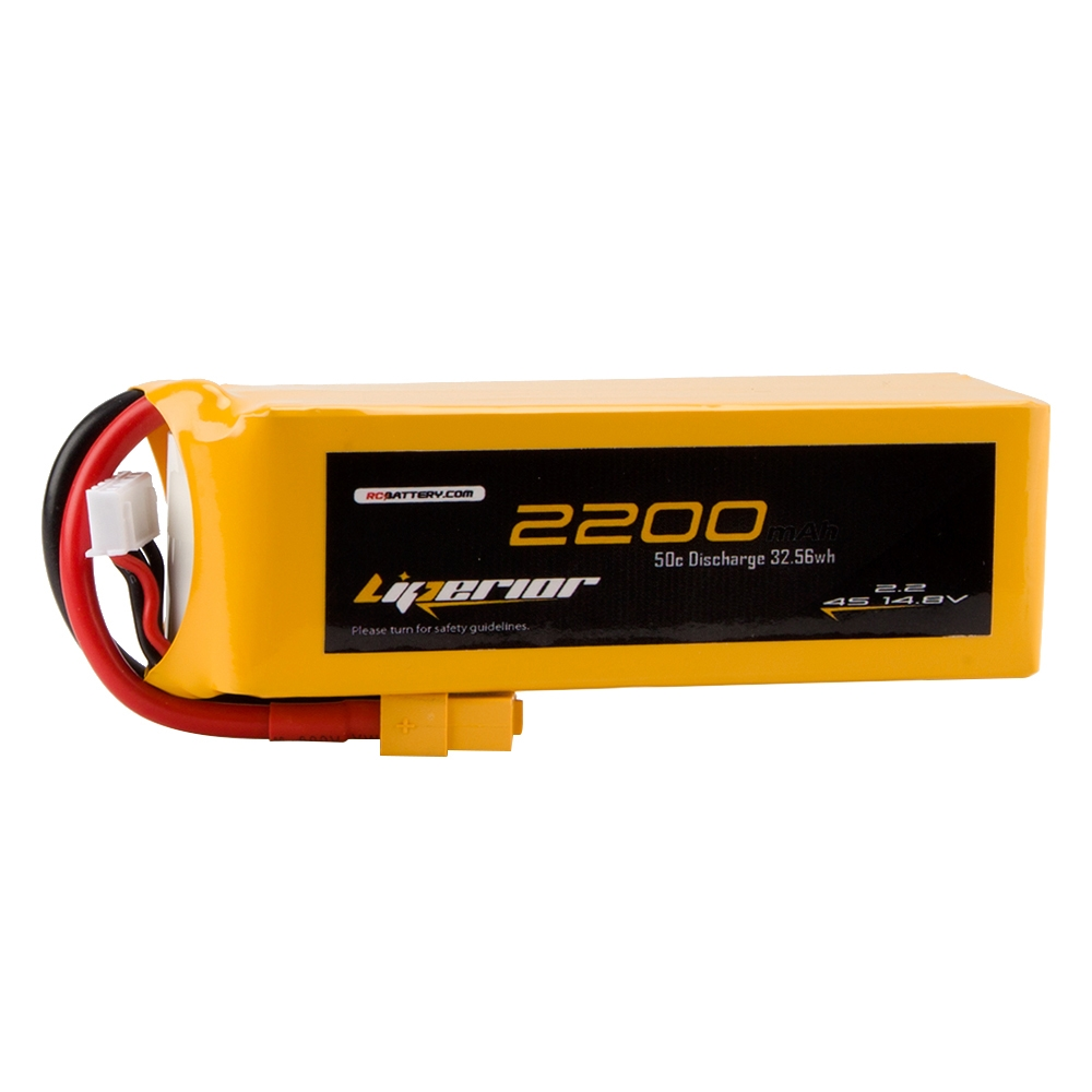 RC BATTERY Liperior 2200mAh 4S 50C 14.8V Lipo Battery With XT60 Plug