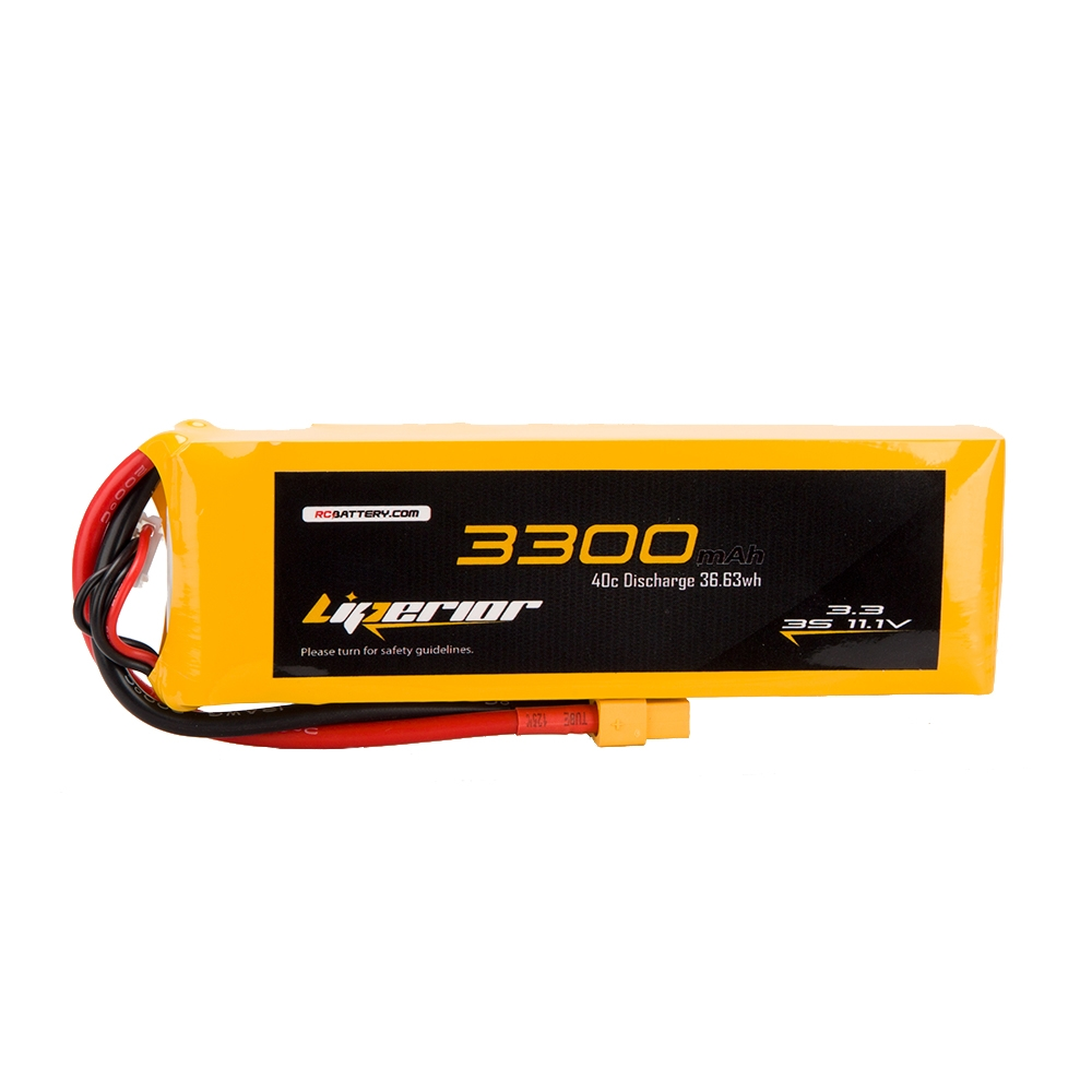 RC BATTERY Liperior 3300mAh 3S 40C 11.1V Lipo Battery With XT60 Plug