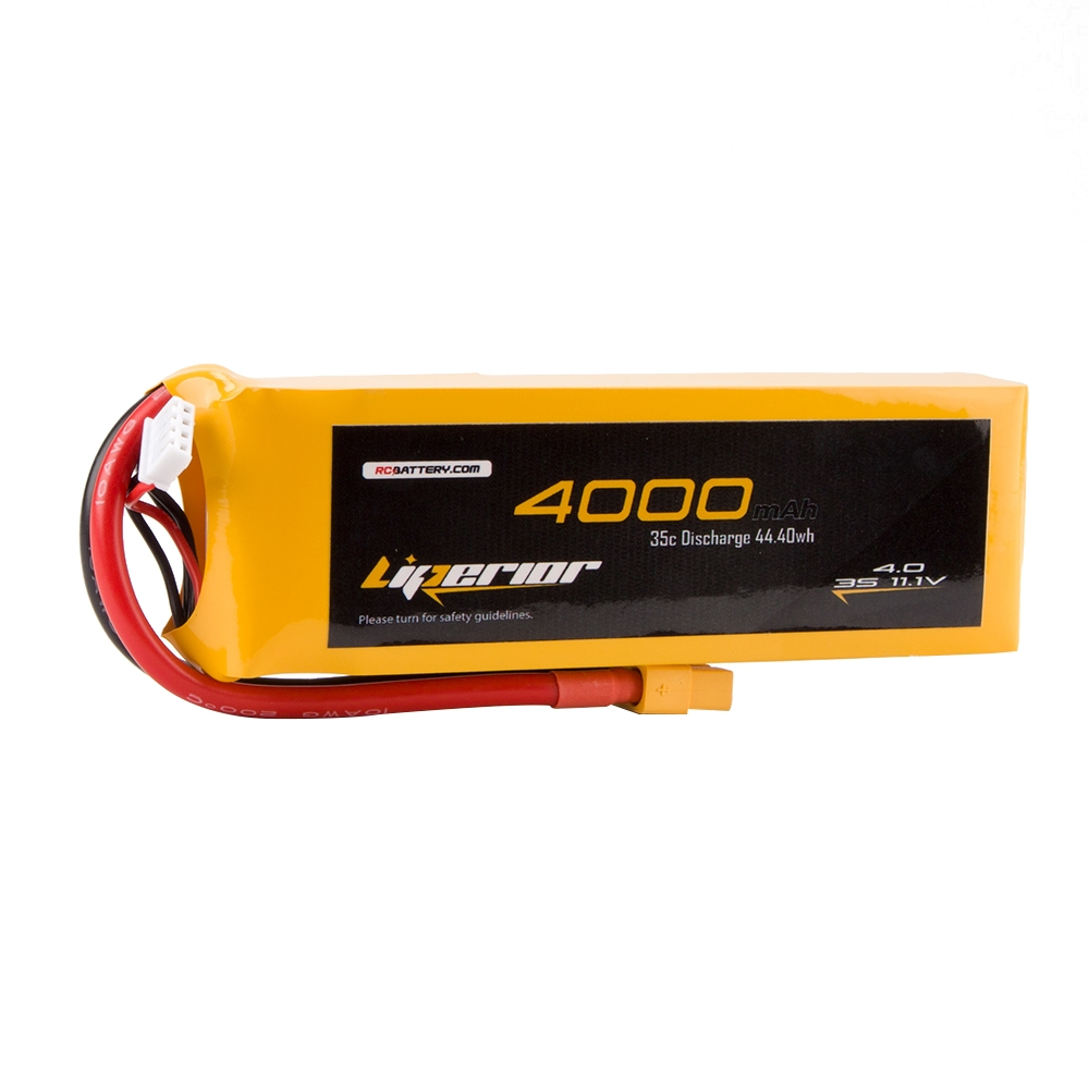 RC BATTERY Liperior 4000mAh 3S 35C 11.1V Lipo Battery With XT60 Plug