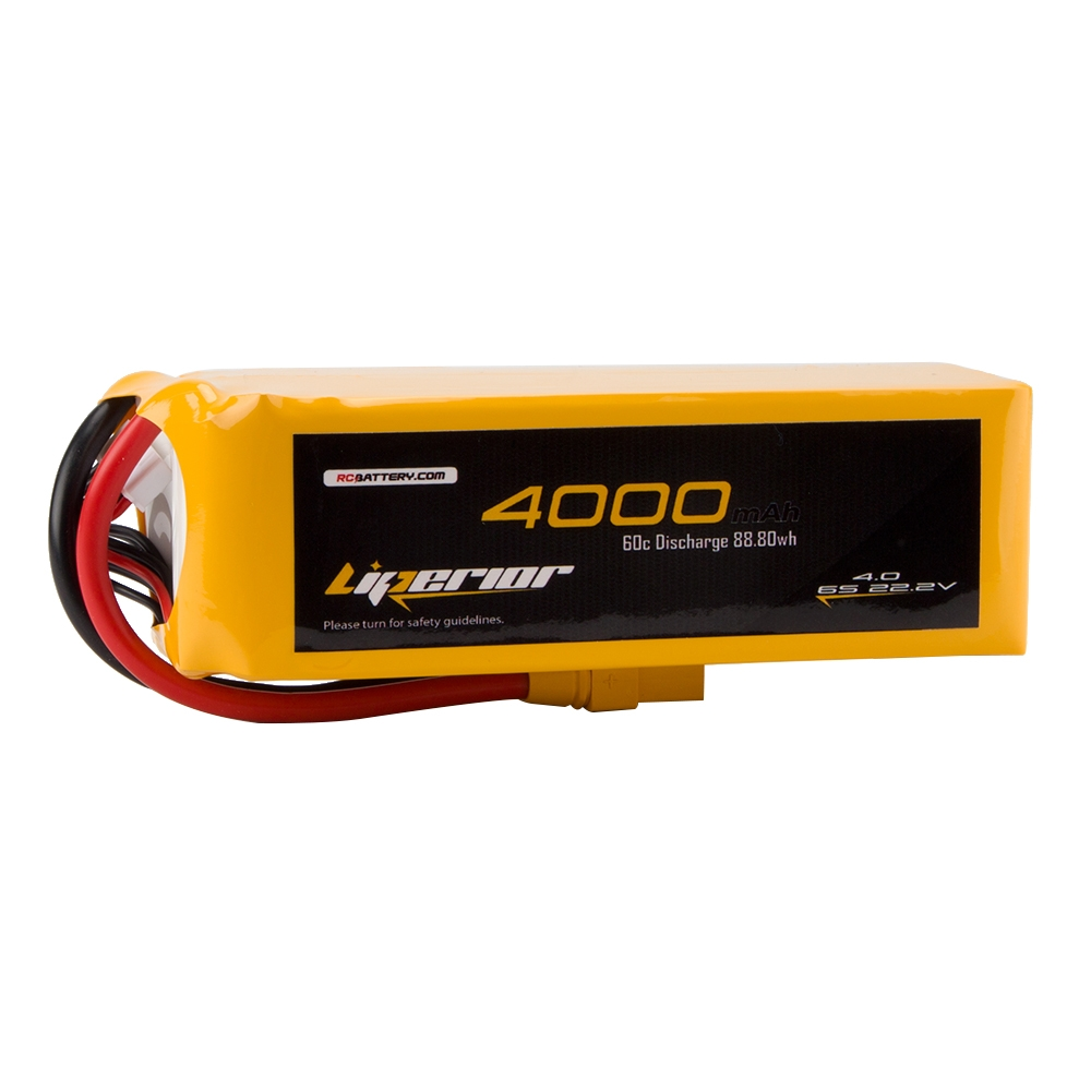 RC BATTERY Liperior 4000mAh 6S 60C 22.2V Lipo Battery With XT90 Plug