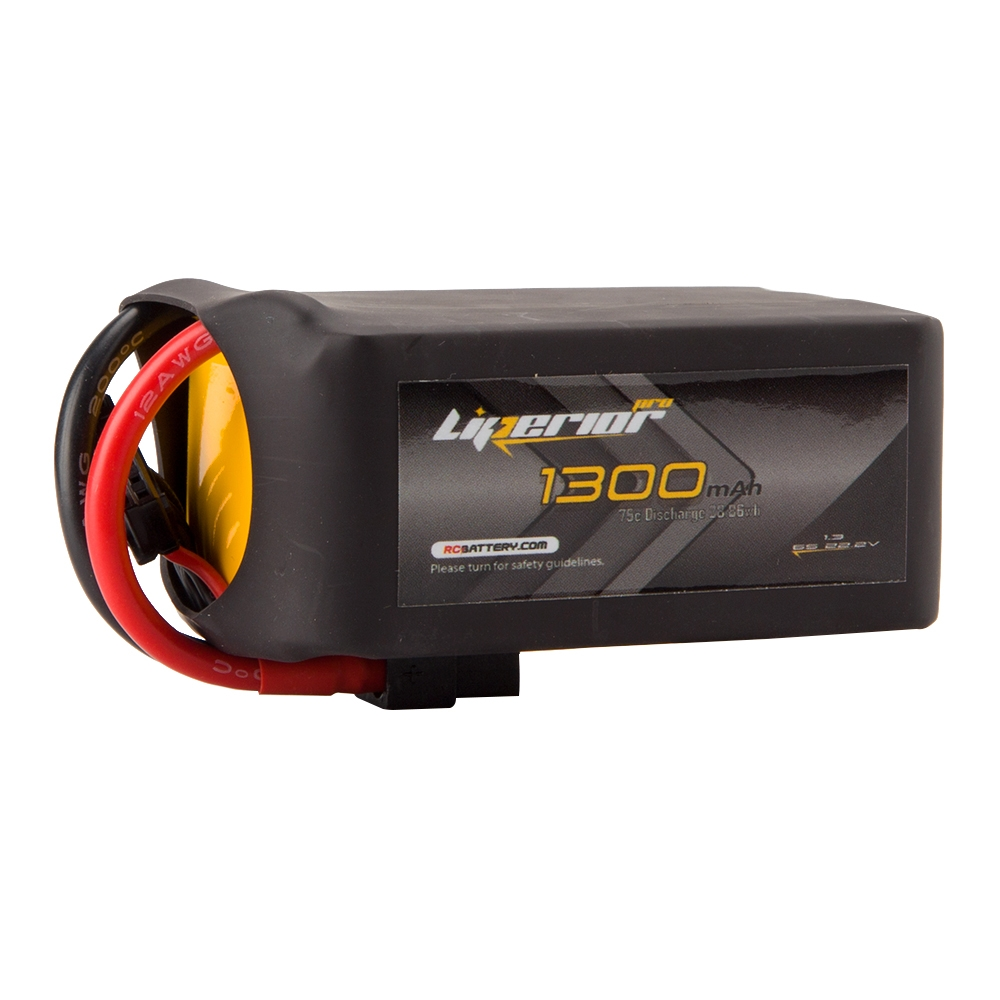 RC BATTERY Liperior Pro 1300mAh 6S 75C 22.2V Lipo Battery With XT60 Plug