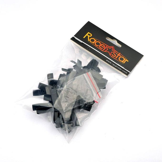 10 Pairs Racerstar 2035 50mm 4 Blade ABS Propeller 1.5mm Mounting Hole For 80-110 FPV Racing Frame - <b>BLACK</b>
