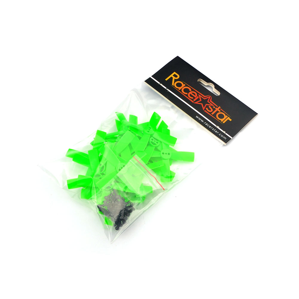 10 Pairs Racerstar 2035 50mm 4 Blade ABS Propeller 1.5mm Mounting Hole For 80-110 FPV Racing Frame - <b>GREEN</b>