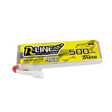 Tattu <b>R-LINE 500mAh</b> 3.7V 95C 1S1P Lipo Battery with JST-PHR