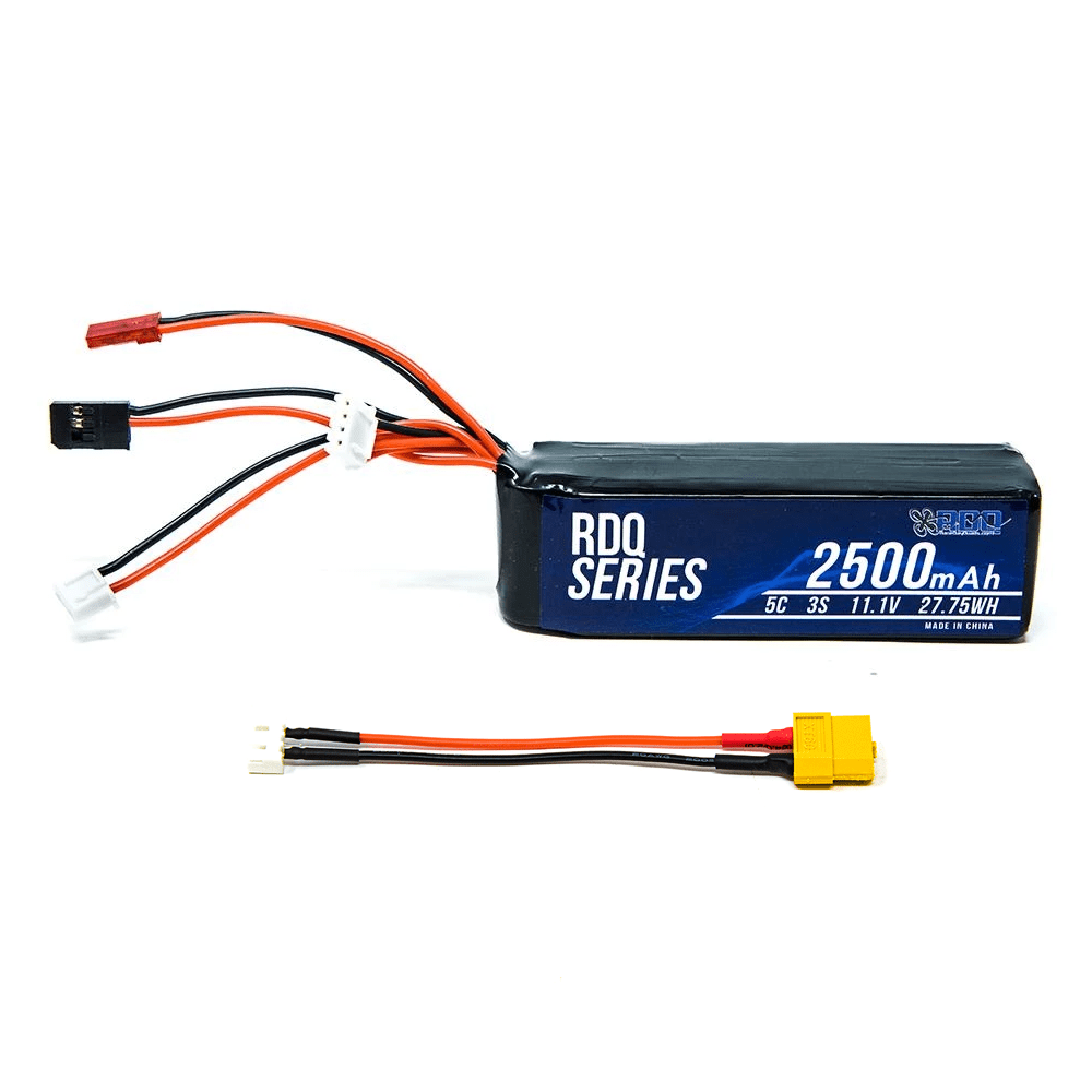 RDQ Series 11.1V 3S 2500mAh 5C LiPo Battery for Taranis X9D w/ Charging Adapter