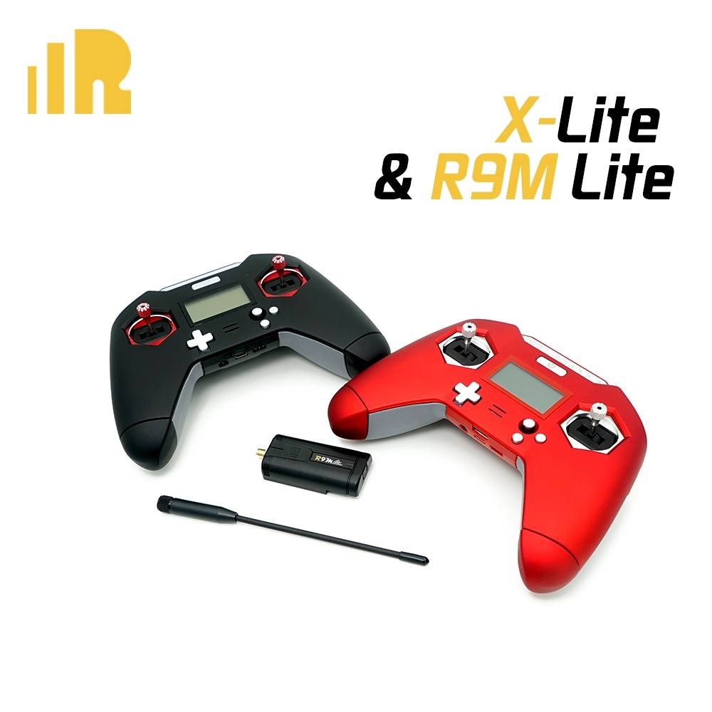 "FrSky Taranis X-Lite (<font color=""red""><b>Red</b></font>) and R9M Lite Combo"